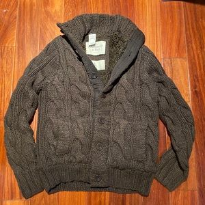 Abercrombie & Fitch men Fur Wool Jacket  Size L